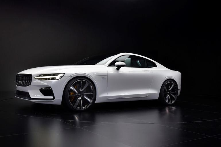 Hybrid-Coupé Polestar 1 erstmals in Aktion