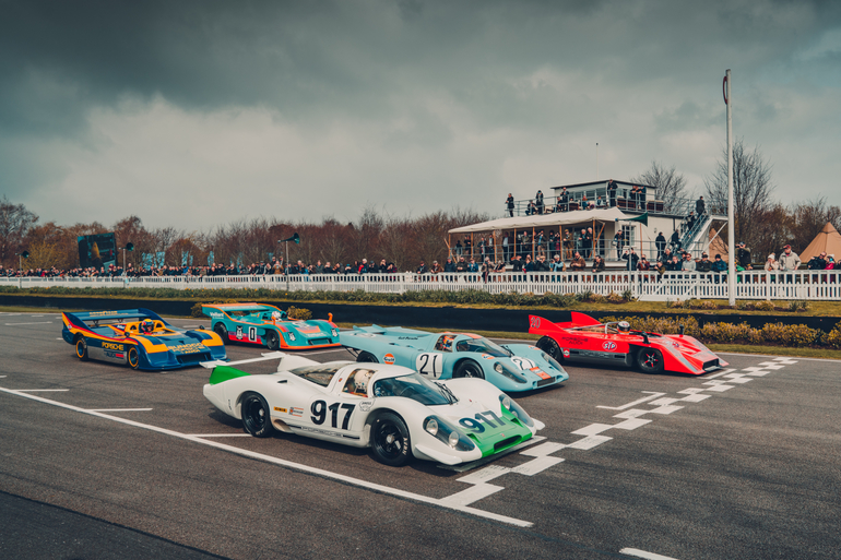 Porsche-Parade in Goodwood